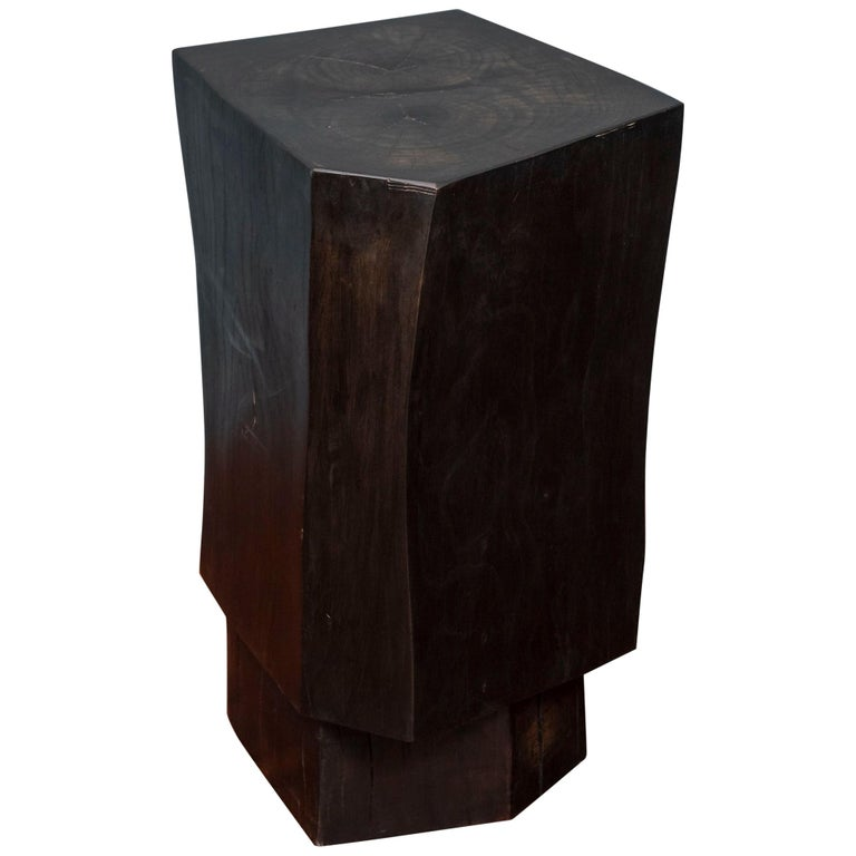 Contemporary Faceted Side Table For Sale
