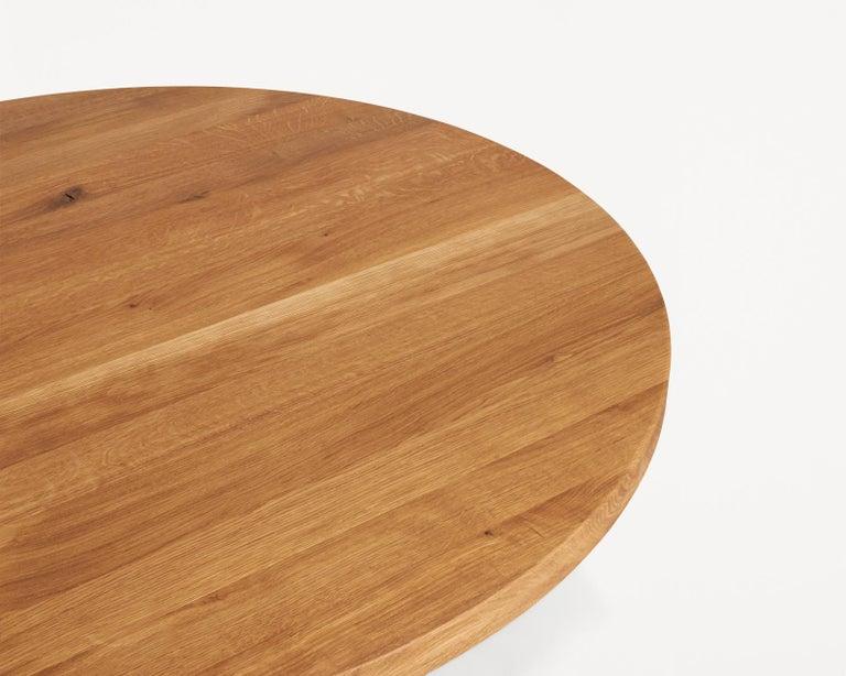 Scandinavian Modern Contemporary Farmhouse Table Round For Sale