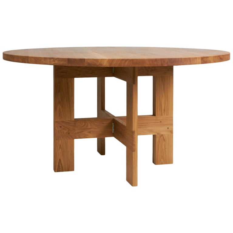 Contemporary Farmhouse Table Round For Sale