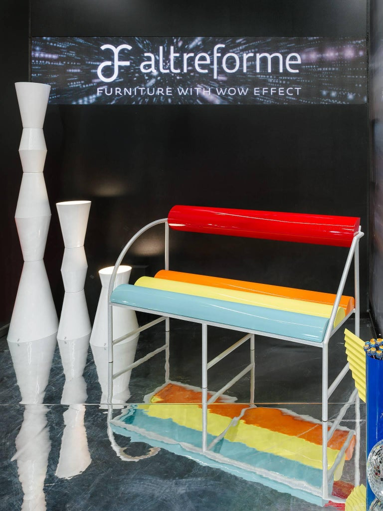 Modern Contemporary Flash Bench in Aluminium by Altreforme For Sale