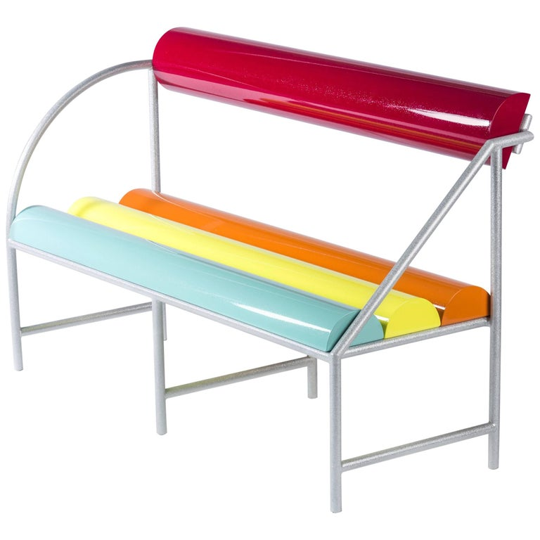 Contemporary Flash Bench in Aluminium by Altreforme For Sale
