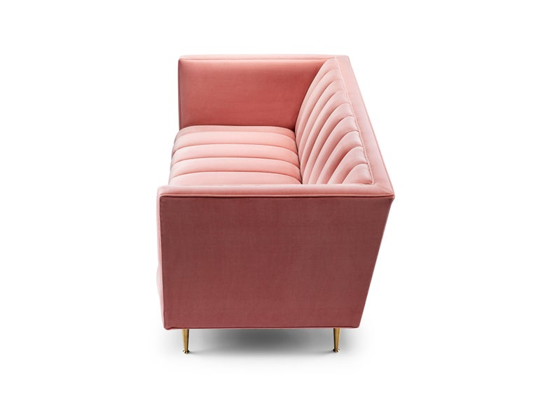 The Fleure two-seat sofa is our latest adaptation of the award-winning Fleure design. The Fleure range combines traditional style cues with a contemporary feel. The fluting on both seat and back offer an eye-catching effect, especially in the shown
