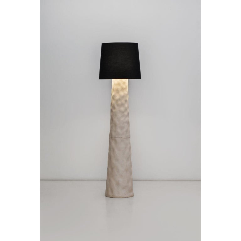 Contemporary floor lamp by FAINA Design: Victoriya Yakusha Material: Cotton, ceramics Dimensions: 50 x 170 cm Weight: 50 kg  In search of new-old design messages, Victoria Yakusha conducted a study of the daily traditions of our ancestors. The times