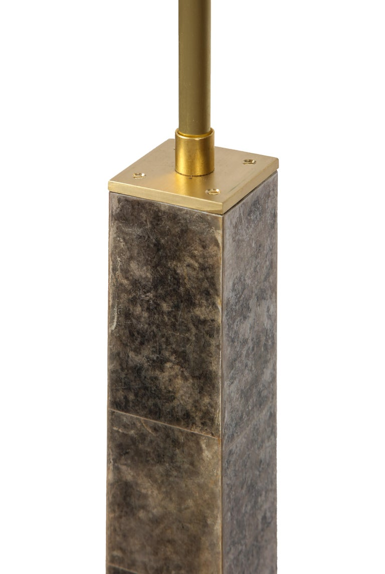 Contemporary Floor Lamp in Mica and Brass For Sale 2