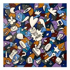 """Contemporary Florentine Artist Skim """"Dreaming Under The Blanket"""""""