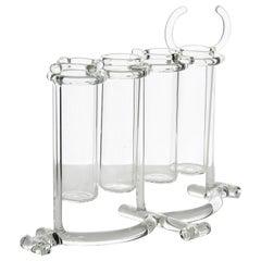 Contemporary Flower Vases or Spice Rack Tableware Kitchen Set Glass Handmade