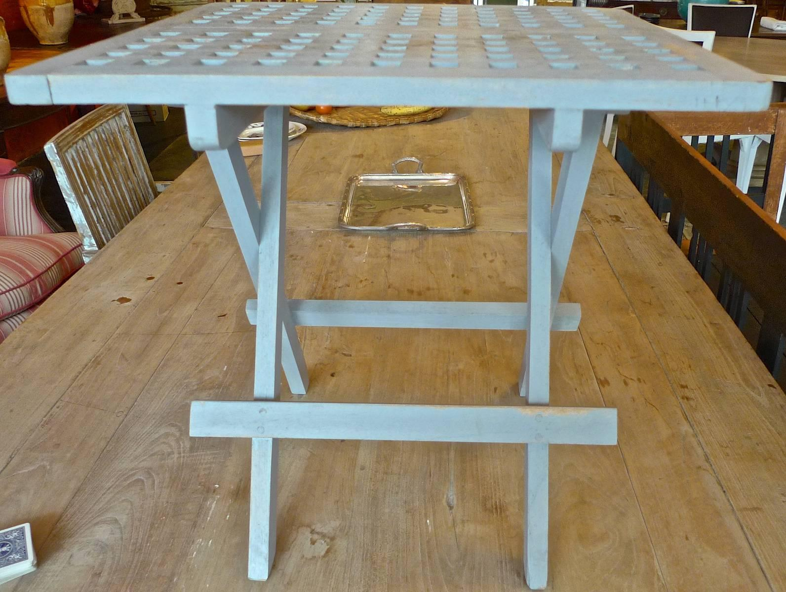 Contemporary Folding Small Painted Teak Picnic Table
