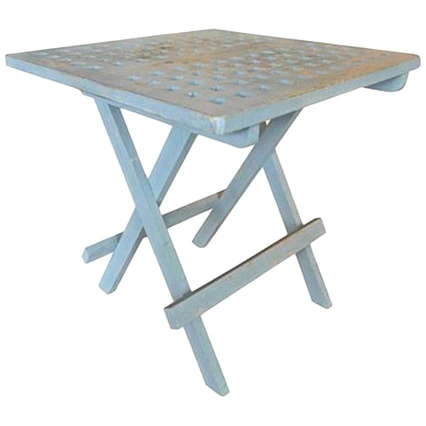 Superieur Contemporary Small Painted Folding Teak Picnic Table