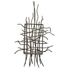 Contemporary Forged Copper Abstract Table Sculpture Signed Robert Hansen 2004