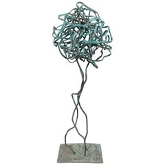 Contemporary Forged Copper Metal Abstract Table Sculpture by Robert Hansen