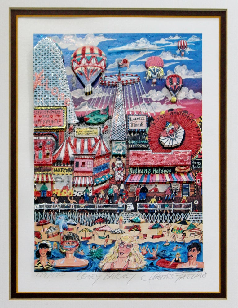 For your consideration is a framed, 3D serigraph, entitled