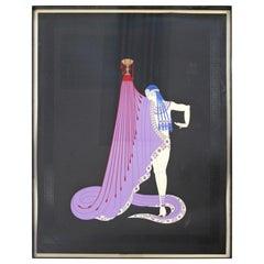 Contemporary Framed Embossed Serigraph Slave of Salome Signed Erte 1979 208/300
