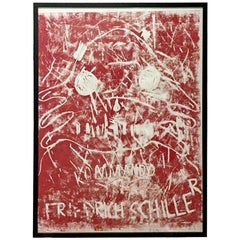 Contemporary Framed Linoleum Print Signed Dated Numbered Andre Butzer, 2000s