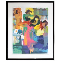 Contemporary Framed Lithograph by Hessam Abrishami Cherish the Day 200/295