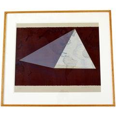 Contemporary Framed Lithograph Print Signed David Barr 5/50, 1980s Four Corners
