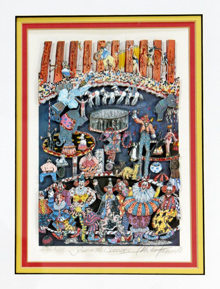 For your consideration is a fun, framed, 3D serigraph, entitled