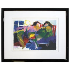Contemporary Framed Serigraph Signed by Hessam Abrishami Romance 231/395