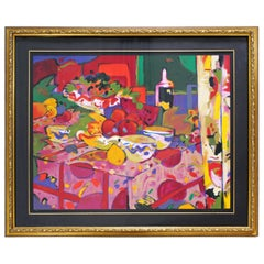 Contemporary Framed Still Life Serigraph Signed by Manel Anoro 74/75, 1990s