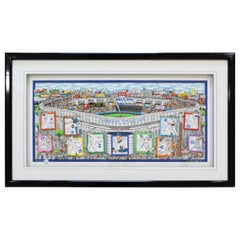 Contemporary Framed Yankee Stadium 3D Serigraph Signed Charles Fazzino 241/500
