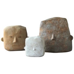 Contemporary French Beatrice Bruneteau Scuplture Heads