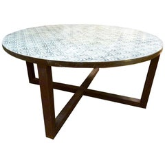 Contemporary French Iron Round Table
