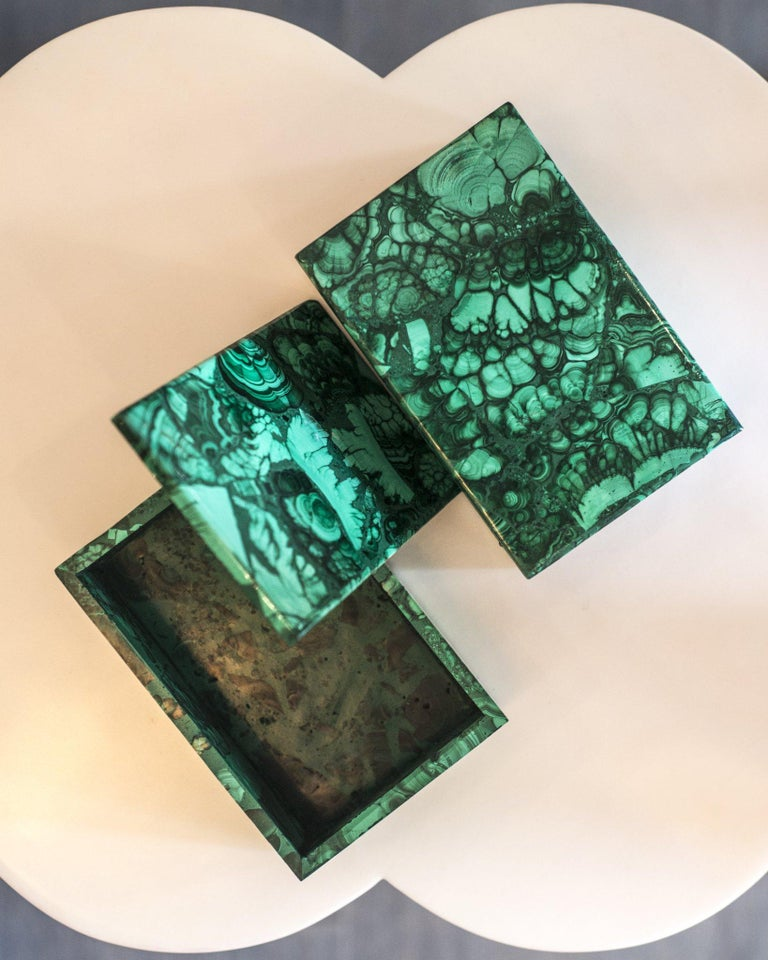 Contemporary French Malachite Box In Excellent Condition For Sale In Toronto, ON