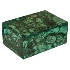 Contemporary French Malachite Box