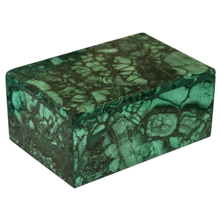 Contemporary French Malachite Box For Sale