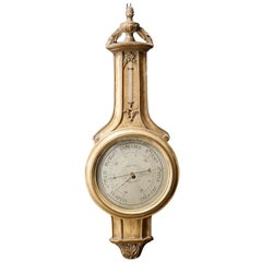 Contemporary French Neoclassical Styled Wall Barometer, Bollenbach, 20th Century