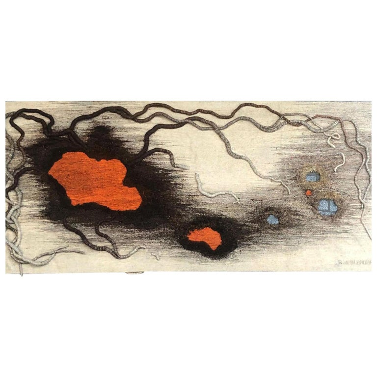 """Contemporary French Tapestry by Anne de Blander, """"Timanfaya"""" For Sale"""
