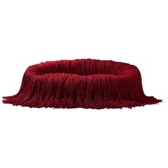 Contemporary Fringed Sofa Fully Covered with Ropes