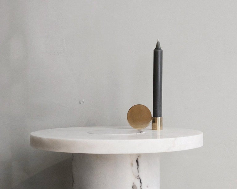 Contemporary Fundament Candleholder Set in Brass For Sale 3