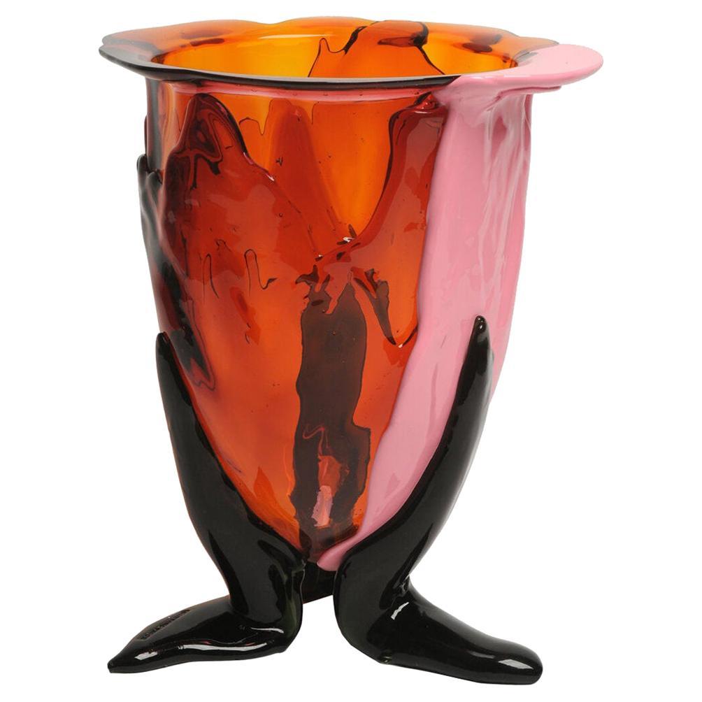 Contemporary Gaetano Pesce Amazonia M Vase Resin Orange Fuchsia Pink Green
