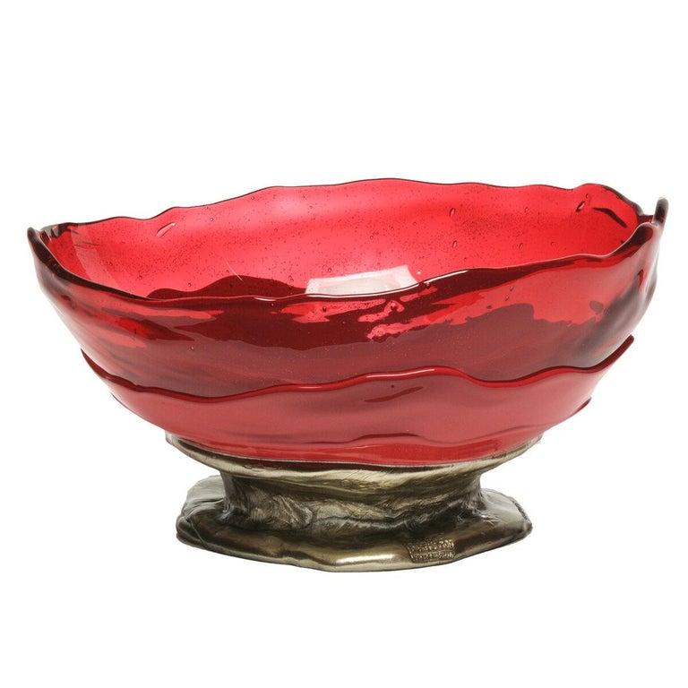 Contemporary Gaetano Pesce Big Collina M Basket Resin Fuchsia Cherry Bronze In New Condition For Sale In barasso, IT