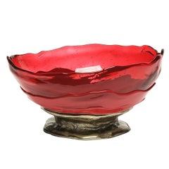 Contemporary Gaetano Pesce Big Collina M Basket Resin Fuchsia Cherry Bronze