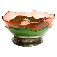 Contemporary Gaetano Pesce Big Collina L Vase Basket Resin Ruby Green Bronze