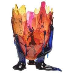 Contemporary Gaetano Pesce Clear Special L Vase Soft Resin Amber Fuchsia Blue