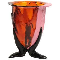 Contemporary Gaetano Pesce Amazonia L Vase Resin Orange Fuchsia Pink Green