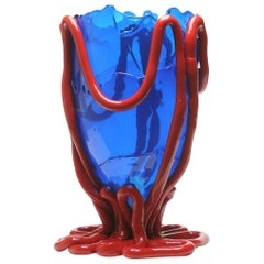 Contemporary Gaetano Pesce Indian Summer Vase Soft Resin Blue Red