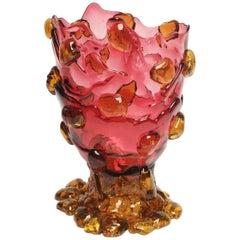 Contemporary Gaetano Pesce Nugget M Vase Resin Fuchsia Yellow