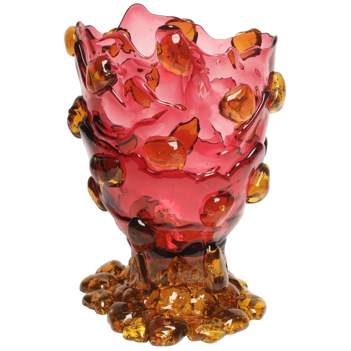 Contemporary Gaetano Pesce Nugget XL Vase Resin Fuchsia Yellow