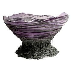 Contemporary Gaetano Pesce Ogiva L Vase Basket Resin Lilac Silver