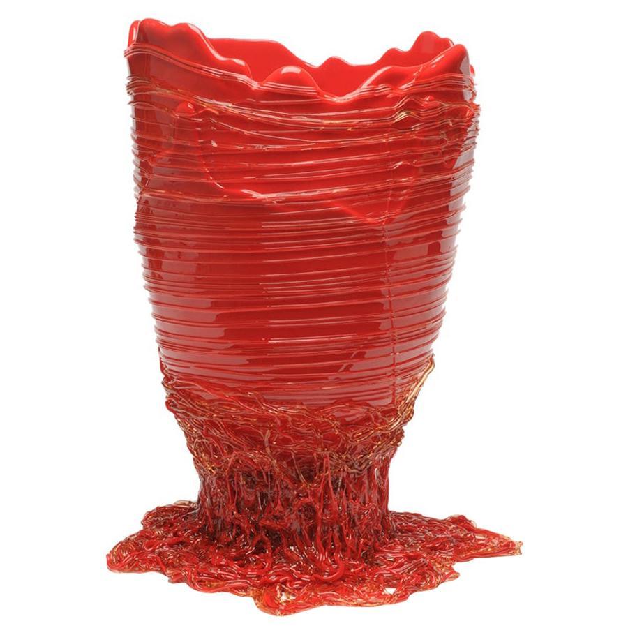 Contemporary Gaetano Pesce Spaghetti M Vase Soft Resin Red