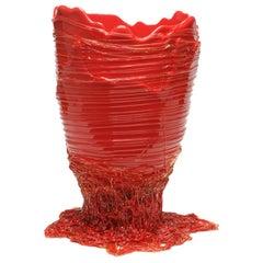 Contemporary Gaetano Pesce Spaghetti XL Vase Soft Resin Red