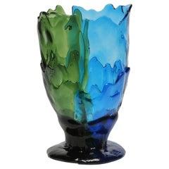 Contemporary Gaetano Pesce Twins-C M Vase Resin Green Blue