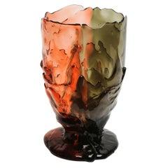 Contemporary Gaetano Pesce Twins-C M Vase Resin Grey Pink