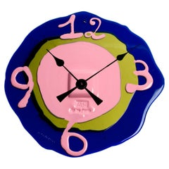 Contemporary Gaetano Pesce Watch Me XL Clock Resin Blue Pink Green
