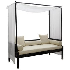 Contemporary Garden Alcove in Black Rattan