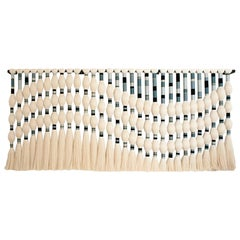 Contemporary Geometric Artisian Raw Cotton South American Sculpture/Tapestry