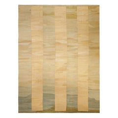 Contemporary Geometric Beige with Taupe Persian Flat-Weave Rug